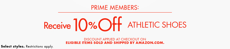 10% Off Athletic Shoes for Prime Members