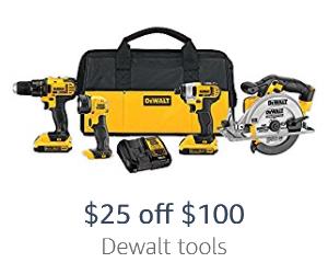 off 0 on Dewalt tools