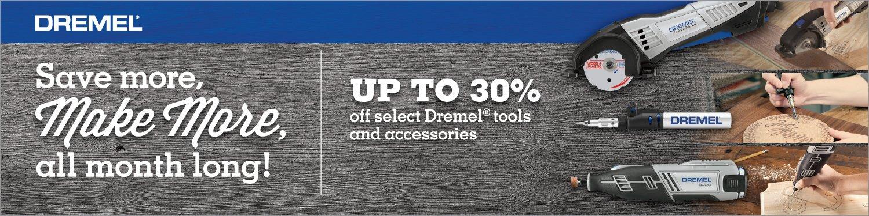 30% off promo on Dremel tools & accessories