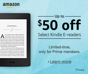 April begin promo on Amazon Kindle E-reader family