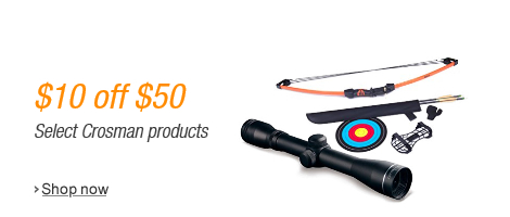 off promo on Crosman products